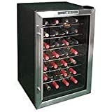 Vinotemp VT-28TEDS 28 Bottle Thermoelectric Wine Cooler – Black-Stainless