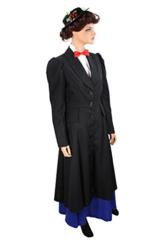 Halloween 2017 Disney Costumes Plus Size & Standard Women's Costume Characters - Women's Costume Characters Women's English Nanny Mary Poppins Costume Coat - Plus Size 14-22