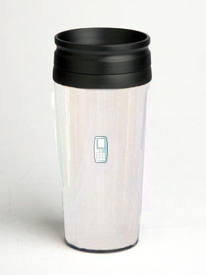 16 oz. Double Wall Insulated Tumbler with cellular phone - Paper Insert