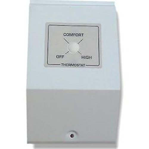 King Bkt2Bw-Tp K-Series Built-In Tamperproof Thermostat Kit Dpst, Bright White