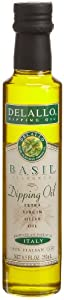 DeLallo Basil Flavored Dipping Oil, 8.5-Ounce Bottles (Pack of 12)