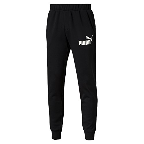Puma Ess No. 1 Sweat Fl Cl Pantalone Sportivo - Nero (Cotton Black) - L