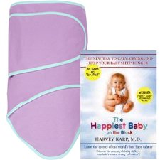 Miracle Blanket Gift Set - Purple with Mint trim with Happiest Baby On The Block DVD