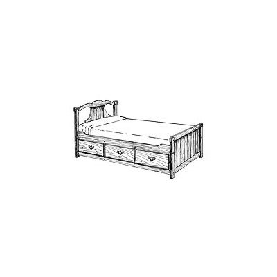 Queen Beds With Drawers 7260 front