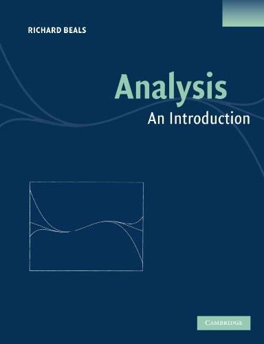 Analysis: An Introduction