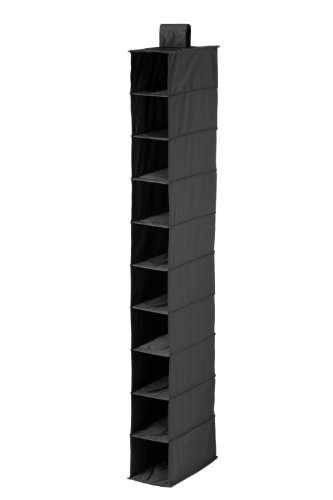 Honey-Can-Do SFT-01247 10-Pocket Hanging Shoe Organizer, Black