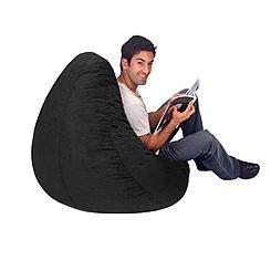 large-black-plush-large-bean-bag-cover