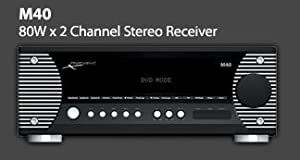 Proficient Audio Systems M40 80-Watt High-Current AM/FM Stereo Receiver