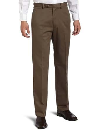 Haggar Men's Maddox Premium Pant,Brown,32x34