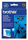 Brand New. Brother Inkjet Cartridge Page Life 400pp Cyan Ref LC1000C