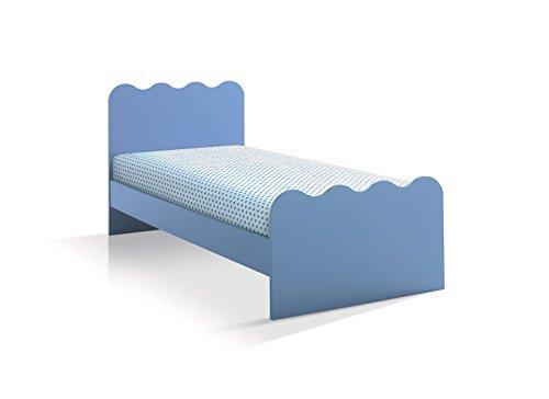 Letto singolo per cameretta articolo 1116 - rete cm 190*80 - Azzurro
