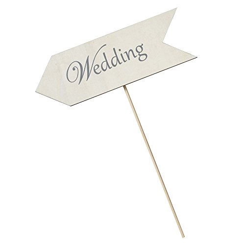 Wedding Directional Sign, Etched (on a Stake)