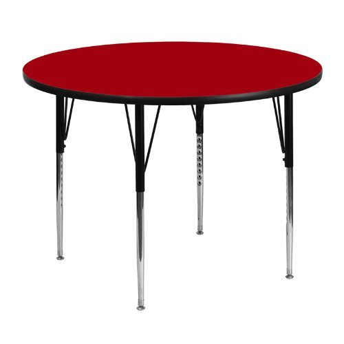 Flash-Furniture-Round-Activity-Table-with-Grey-Thermal-Fused-Laminate-Top-And-Standard-Height-Adjustable-Legs