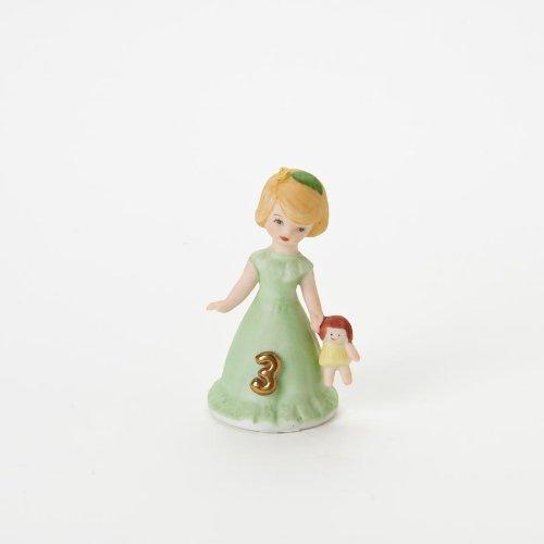 Enesco Growing Up Girls Blonde Age 3 Figurine