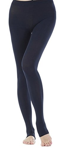 KUCI® Women's Tight End Tights Girls' High Waisted Body Shaping Tights (Navy Blue)