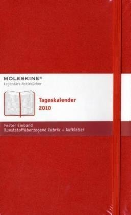Moleskine Daily Planner 2010 12 Month Red Hard Large
