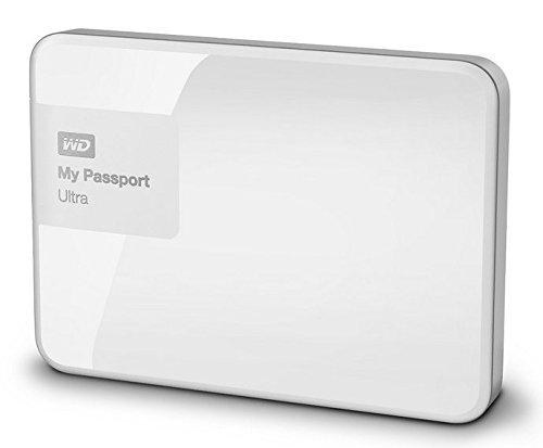 Western Digital 3TB My Passport Ultra tragbare externe Festplatte- USB3.0, Weis, Hardware Verschlüsselung, Backup Software- WDBBKD0030BWT-EESN