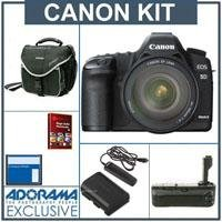 Canon EOS-5D Mark II Digital SLR Camera / Lens Kit with Canon EF 24-105L IS Lens, with 8GB CF Memory Card, Spare Canon LP-E6 Battery, Slinger Camera Bag, Flashpoint Pro Battery Grip, Adorama Digital Remote Release