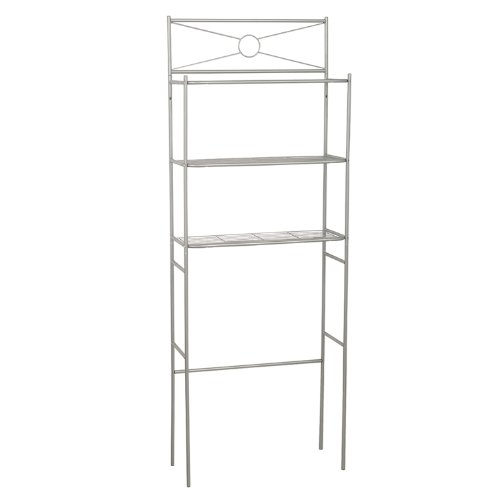 "Find Discount Zenith Products ""Cross Style""  Metal Spacesaver, 3 Shelf, Satin Nickel"