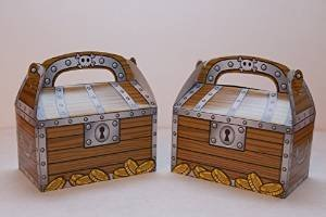 Treasure Chest Treat Boxes (package of 12) - 1
