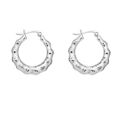 Fad and Fabulous Earrings Jewelry 925 Sterling Silver Large size Designed with Circle Hoop(WoW !With Purchase Over $50 Receive A Marcrame Bracelet Free)