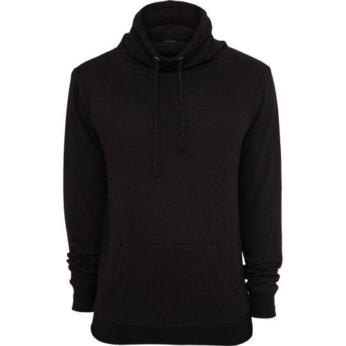 Urban Classics TB543 Melange High Neck Knitted Crew Felpa Collo Alto Uomo Regular Fit (Black/Black, S)