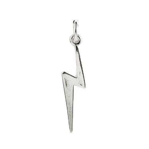 925 Sterling Silver Lightning Bolt Charm
