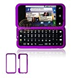 Premium Purple Rubberized Snap-On Cover Hard Case Cell Phone Protector for  ....