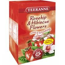 Teekanne Rosehip And Hibiscus Herbal Tea - 20 Per Pack -- 10 Packs Per Case.