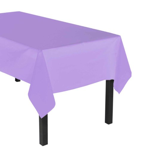 "Party Essentials Heavy Duty Plastic Table Cover, 54 x 108"", Lavender"