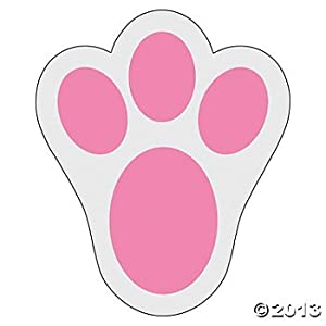 Amazon Com 12 Pink Bunny Paw Print Floor Decal Clings