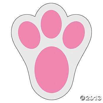 12 Pink Bunny Paw Print Floor Decal Clings ~ Perfect For Easter Decorating! front-812165