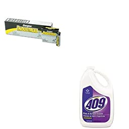 KITCOX03107EAEVEEN91 - Value Kit - Clorox Glass and Surface Cleaner (COX03107EA) and Energizer Industrial Alkaline Batteries (EVEEN91)