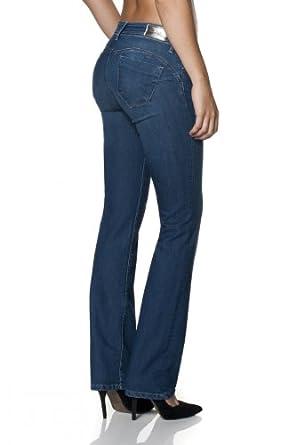 salsa jeans push up wonder avec coupe droite femme v tements et accessoires. Black Bedroom Furniture Sets. Home Design Ideas