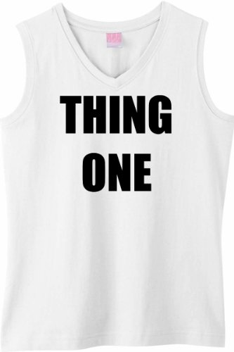 THING ONE on Womens Sleeveless V-Neck T-Shirt (in 8 colors)
