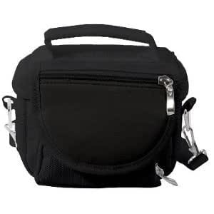 Black Sony Playstation PS Vita Travel Bag Carry Case (room for charger/games/...
