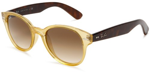 Ray Ban Women's Rb4141 Opal Yellow / Tortoise Frame/Brown Gradient Lens Plastic Sunglasses