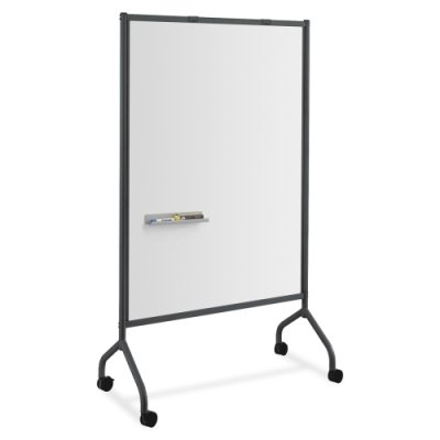 Safco Products Impromptu Full Whiteboard Screen, 42 by 72-Inch, Black