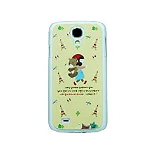 Little Red Riding Hood Girl and The Bear Pattern Hard Case for Samsung Galaxy S4 I9500