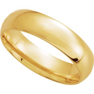 Genuine IceCarats Designer Jewelry Gift 14K Yellow Gold Wedding Band Ring Ring. 05.00 Mm Light Comfort Fit Band In 14K Yellowgold Size 5.5