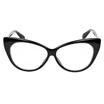 iB-iP Womens Cat Eye Clear Lense Glasses Fashion Eyewear