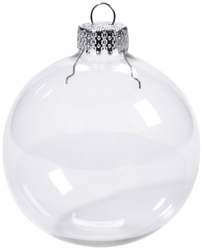 Darice 2610-42 4-Piece Clear Glass Ornament Balls