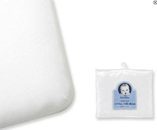 Gerber 100% Cotton Woven Crib Sheet 2 pack