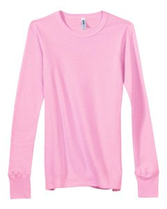 Bella Women's Irene Long Sleeve Thermal T-Shirt - SOFT PINK - X-Large