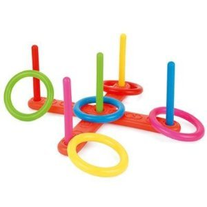 Toyrific Plastic Quoits Set ~ Garden Game Outdoor Toy