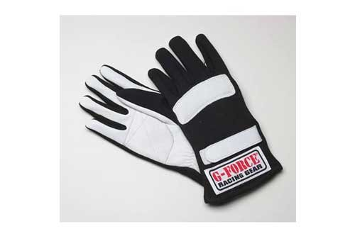 G-Force 4101XSMBK G5 Black X-Small Junior Racing Gloves