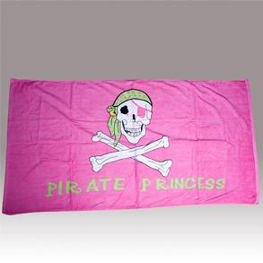 Pirate Princess Pink Beach Towel