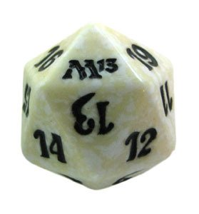 MTG Spindown D20 Life Counter - M13 Magic 2013 White