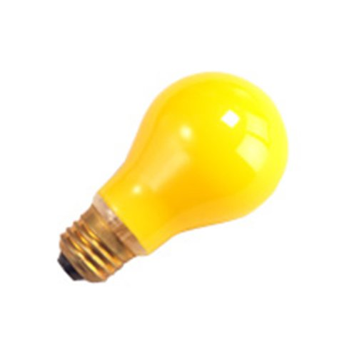 20 Qty. Halco 60W A19 Yel Bug 130V 2M Halco A19Bg60 60W 130V Incandescent Yellow Bug Lamp Bulb