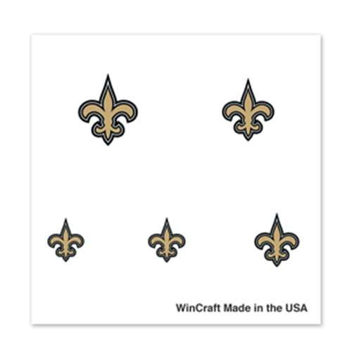 New Orleans Saints Fingernail Tattoos - 4 Pack